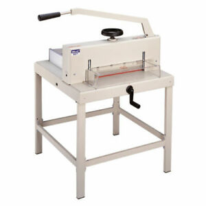 Guillotine Manual Paper Cutter 3971 Heavy Duty 18 7 Wide Led Cutting Guide