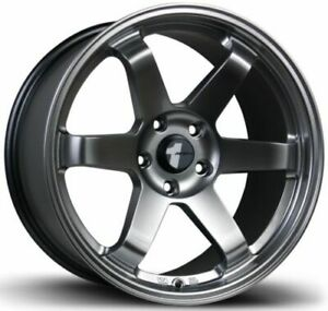 Avid1 Av06 18x9 5 18 18x10 5 22 5x114 3 Hyper Black Staggered Set Of 4