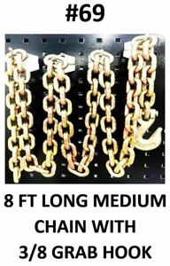 Auto Body Frame Machine Chain With Grab Hook 26400 Capacity 8 Ft Long Tools