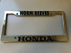 Honda Norm Reeves Southern California Dealership License Plate Frame Plastic
