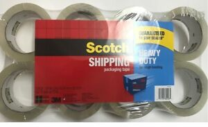 Scotch 3m Heavy Duty Shipping Packing Tape 8 Rolls 1 88 In X 54 6 Yd New