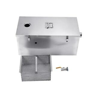 Commercial Grease Trap 25lbs 13gpm Stainless Steel Interceptor For Restaurant