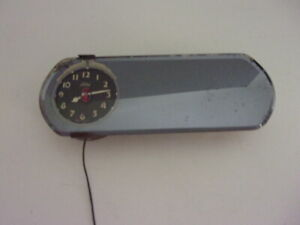 Rare Ford Motor Co Clock Rear View Mirror