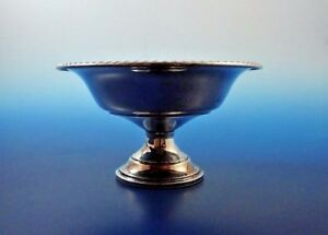 Fancy Sterling Silver Candy Dish W Gadroon Edge By Wallace