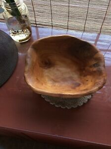 Huge Enrico Products Carved Root Wood Wooden Bowl 1 Of A Kind Art Work
