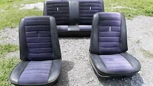 1966 Nova Front Bucket Seats And Rear Seat
