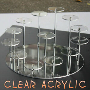 Acrylic Removable Stand Model Toy Display Transparent Perspex Stands Shelf Rack