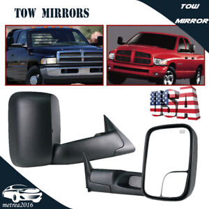 Pair For 1998 2001 Dodge Ram 1500 2500 3500 Power Heated L R Tow Mirrors