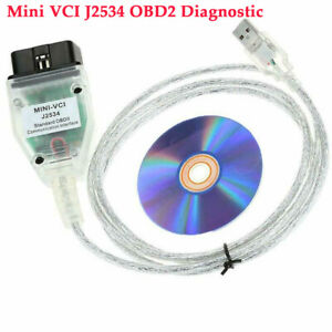 Original Mini Vci Diagnostic Cable Obd2 For Toyota Lexus Firmware V2 0 4