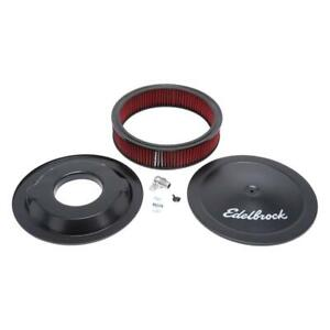 Edelbrock Air Cleaner Assembly 1225 Pro flo Black Steel Round 14 000 3 000