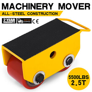 5500lbs 2 5t Machinery Mover Roller Dolly Skate Fixed Pu Roller
