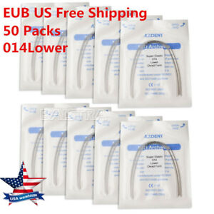 50 Packs Dental Orthodontic Super Elastic Niti Round Arch Wire 014lower Azdent