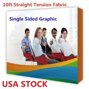 10ft Tension Fabric Display Trade Show Pop Up Backdrop Exhibition Booth 1 Side