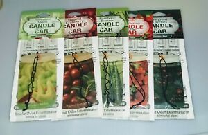 Candle For The Car Air Fresheners 5 Various Scents