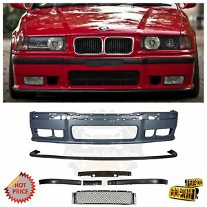 Bmw E36 M3 Front Bumper Kit With Yellow Fog Lights For All E36 3 Series 2d 4d Ti