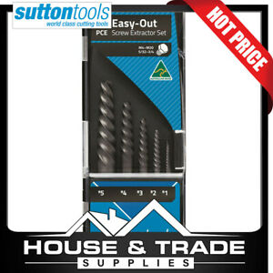 Sutton Tools Screw Extractor Set 5 Piece 1 5 Easy out M603s15