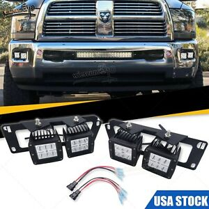 Fit Dodge Ram 2500 3500 Bumper Dual 24w Light Pods Replace Kit plug N Play Wire