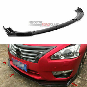 For Nissan Altima Sedan 2013 2015 Glossy Black Front Bumper Lip Splitter Cover