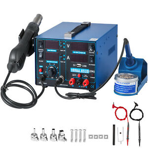 Yihua 853d usb Hot Air Gun Soldering Iron Dc Power Supply 4 in 1 Rework Station