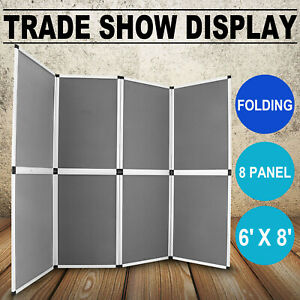 6 x8 Folding 8 Panels Trade Show Display Booth Promotion Exhibit Backdrop
