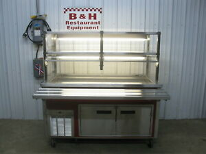 Delfield 5 Cold Well Salad Bar Refrigerated Buffet Table W Sneeze Guard 60