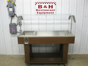56 Cold Well Salad Bar Burrito Buffet Steam Table W Sneeze Guard Soup Warmer
