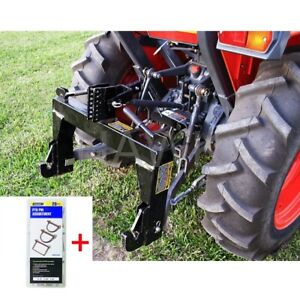 Quick Hitch 3 point Category 1 Farming Tractor Implement Free 20 Pc Pto Pins