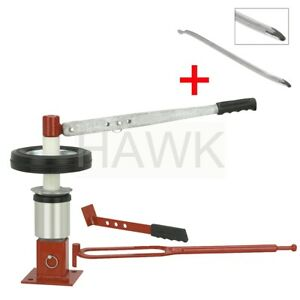 Manual Portable Mini Tire Changer Bead Breaker Tool Mounting Free 24 Tire Iron