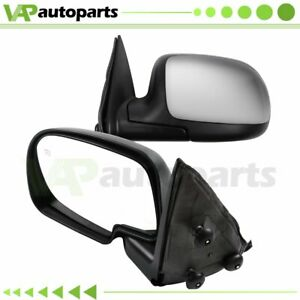 For 1999 2002 Chevy Gmc Truck Chrome Heated Power Side View Mirrors Pair