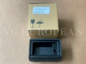 Bmw Genuine E46 3 Series Rear Ashtray With Roller Cover Black Chrome New