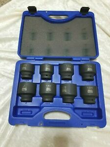 Cornwell Blue Power 8 Piece 3 4 Drive 6 Point Shallow Impact Socket Set