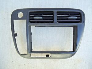 1999 2000 Honda Civic Ek Radio Trim Bezel Panel Heater Ac Oem