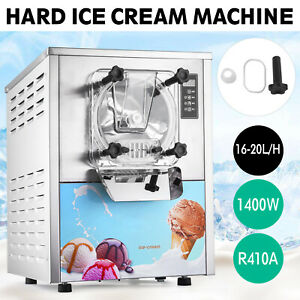 110v Commercial Frozen Hard Ice Cream Machine Maker 20l h Fast Shipping