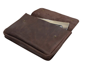 Genuine A4 Size Vintage Leather Folder Document Holder Office Paper File For