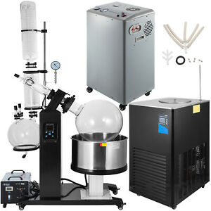 50l Rotary Evaporator With Vacuum Pump Chiller Efficient Accurate Lcd Screen
