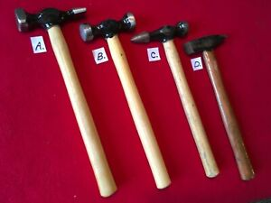 Vintage Lot Of Auto Body Hammers And Dollies