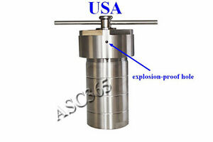 200ml Teflon Lined Hydrothermal Synthesis Autoclave Reactor Lab Equipment New