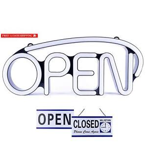 Led Neon Open Sign For Business Bright White Large For Business Displays 22