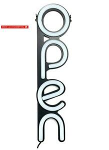 Led Open Sign For Business Bright White Vertical Neon Style Open Light Signs