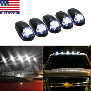 5pcs White Led Cab Roof Marker Running marker Lights For Gmc Chevy Suv 4x4