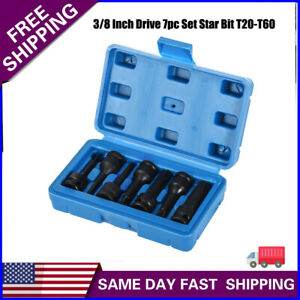 7pc Extra Long Torx Impact Socket 3 8 Inch Drive Tool Set Star Bit T20 T60 Us