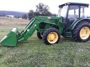 2012 4x4 John Deere 5083e Cab Loader Tractor Pre emmision 83hp Used 570 Hours