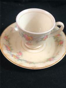 Homer Laughlin Eggshell D4bn5 Georgian Tea Cup And Saucer