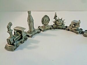 Pewter Miniature Train Set ~ Coke and Countries