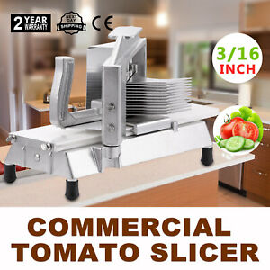 Commercial Tomato Slicer Cutter 3 16 Pushing Block Sta steel Cutting Machine