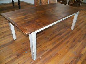 Handmade 42 X 84 Farm Table Reclaimed Wood Harvest Dining Conference White