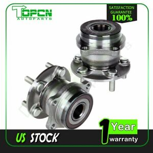 Both Of 2 New Rear Wheel Hub And Bearing Assembly For Legacy Impreza Forester