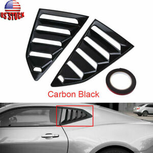 Car Louver Cover Rear Side Window 1 4 Quarter For Chevy Camaro Accessories 2016