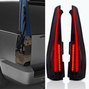 07 14 Gmc Yukon Chevy Tahoe Smoke Escalade Style Led Taillights Conversion