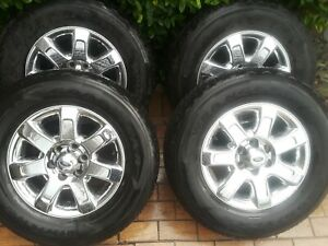 Ford F150 F 150 Expedition Limited 18 18 Inch Chrome Oem Wheels Rims W Tires